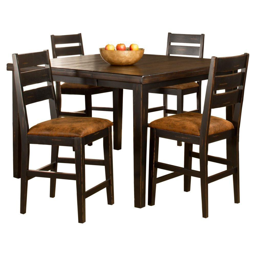 Hillsdale Furniture 5381CTBSL5 Killarney 5-Piece Counter Height Dining with Ladder Back Stools from Hillsdale Furniture