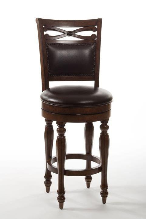Hillsdale Furniture 5388-827 Hamilton Park Swivel Counter Stool with Upholstered Back - Completely KD from Hillsdale Furniture