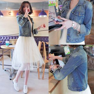Buttoned Denim Jacket from Hilsah