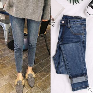 Crop Slim Fit Jeans from Hilsah