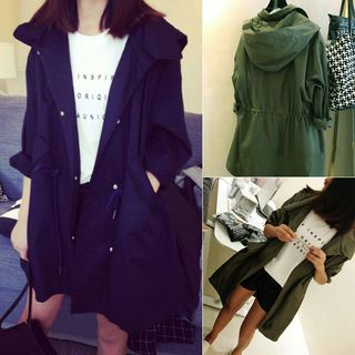 Hooded Trench Coat from Hilsah