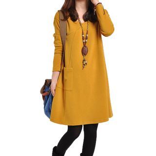 Long-Sleeve Pocketed Dress from Hilsah