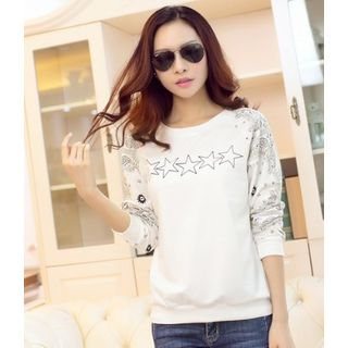 Long-Sleeve Star Print T-Shirt from Hilsah