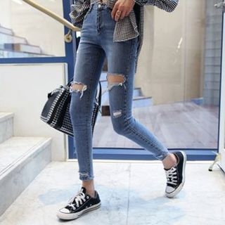 Ripped Skinny Jeans from Hilsah