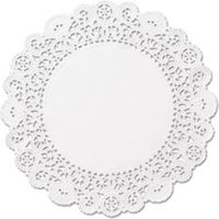 "Brooklace Lace Doilies, Round, 4"", White, 2000/Carton from Hoffmaster"