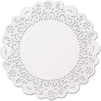 "Brooklace Lace Doilies, Round, 6"", White, 2000/Carton from Hoffmaster"