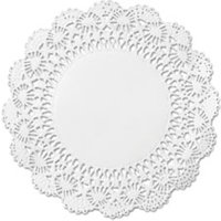 "Cambridge Lace Doilies, Round, 12"", White, 1000/Carton from Hoffmaster"