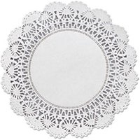 "Cambridge Lace Doilies, Round, 8"", White, 1000/Carton from Hoffmaster"