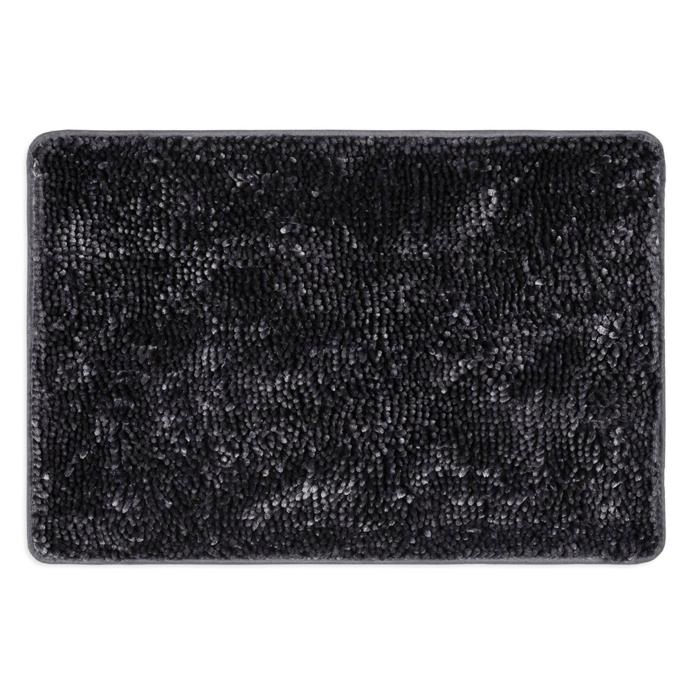 "26""x44"" Bali Breeze Bath Mat Dark Gray - Home Dynamix from Home Dynamix"