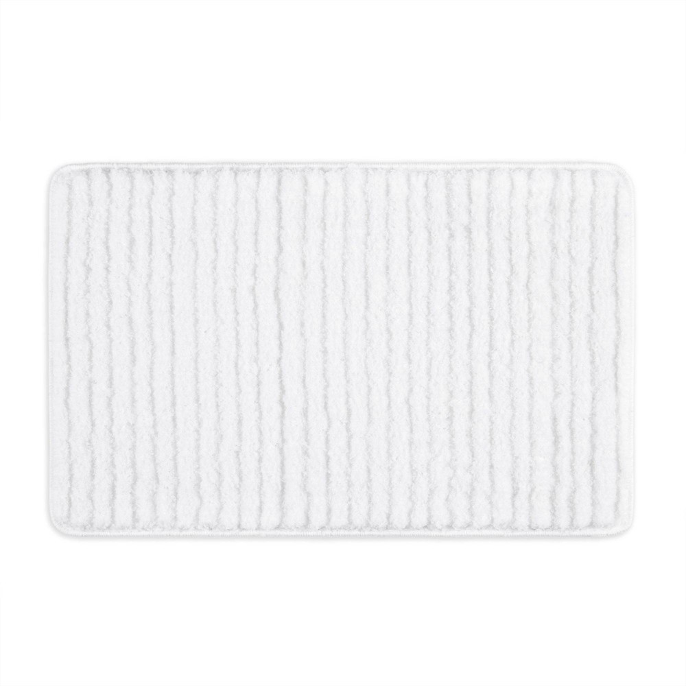 "27""x48"" Ombre Oasis Bath Mat White/Ivory - Home Dynamix from Home Dynamix"