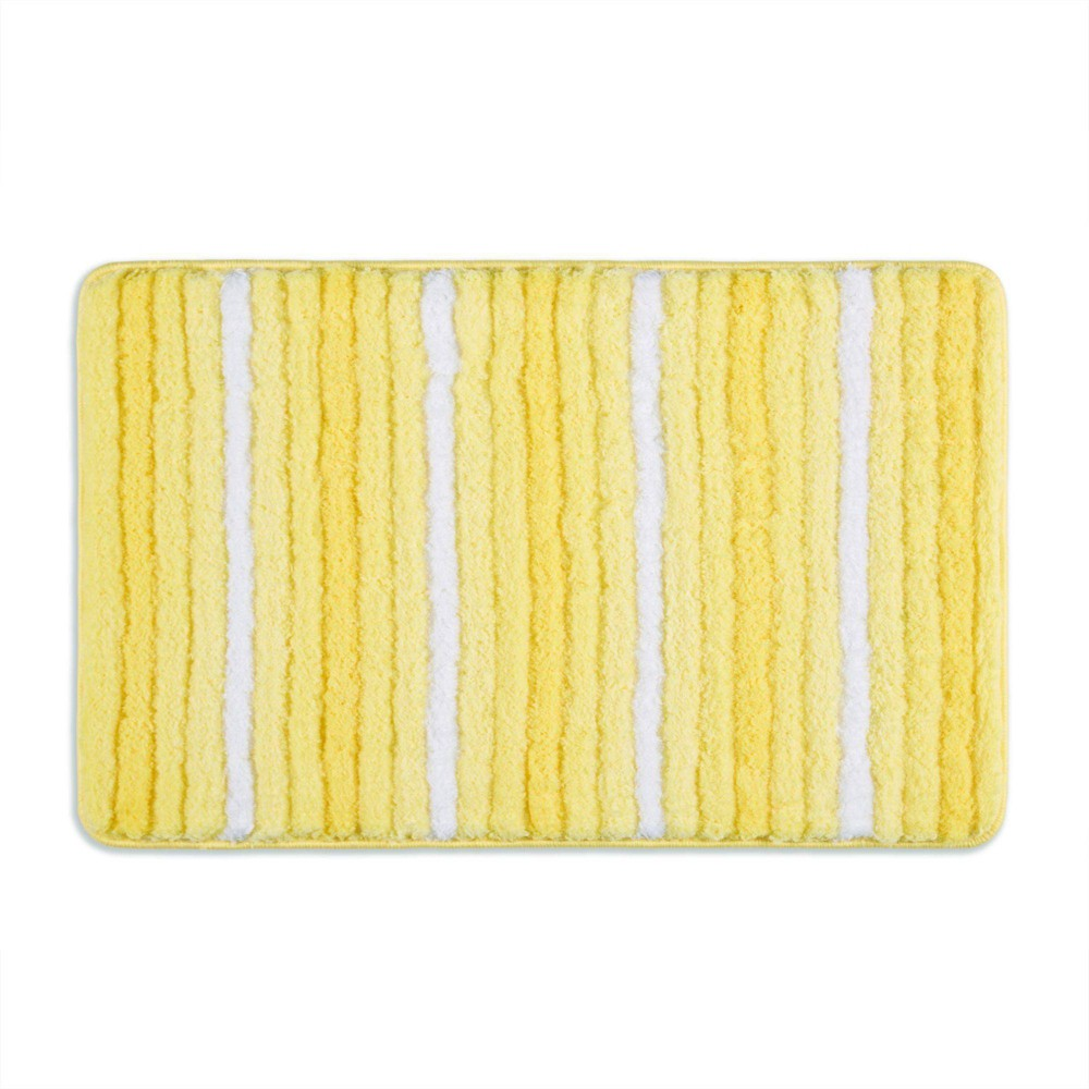 "27""x48"" Ombre Oasis Bath Mat Yellow/White - Home Dynamix from Home Dynamix"