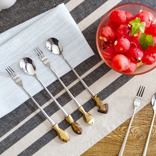 Fish-Accent Long Spoon / Fork from Home Simply