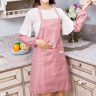 Set: Striped Apron + Sleeve Guards from Home Simply