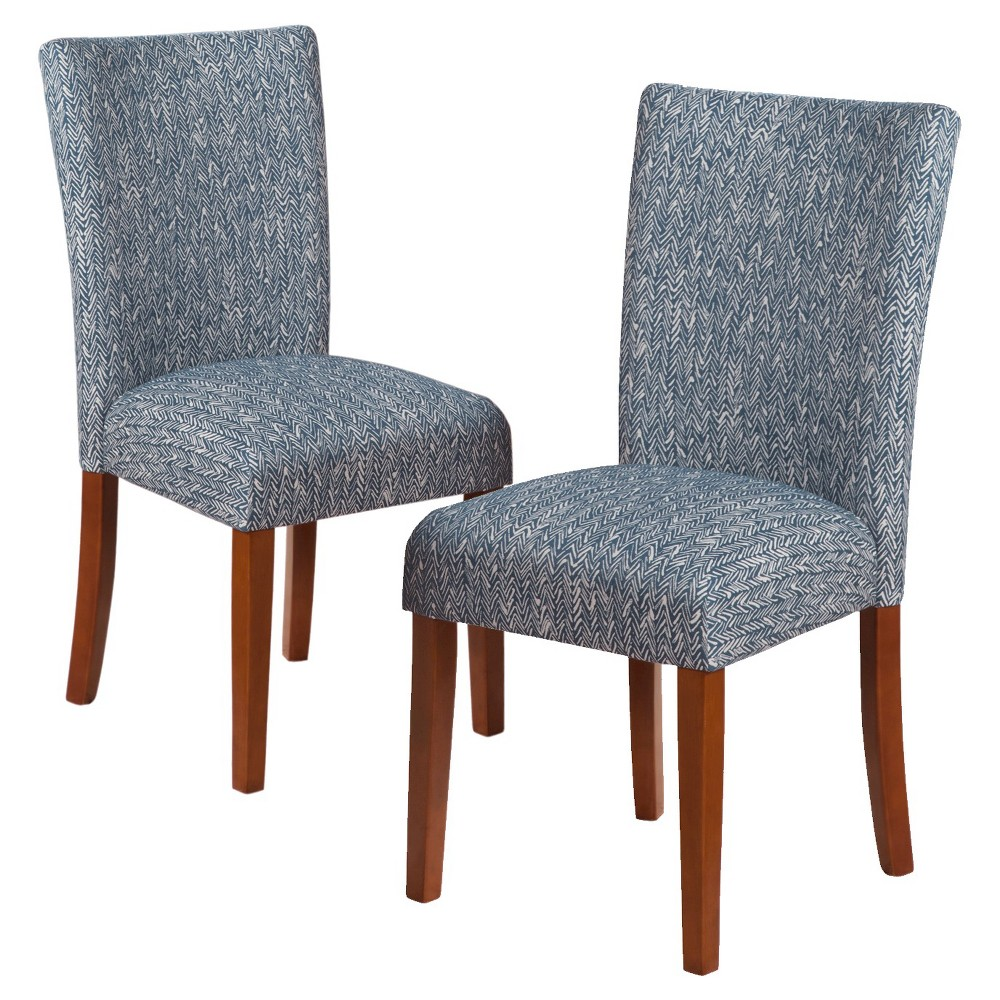 Set of 2 Parson Dining Chairs Midnight Blue - HomePop from HomePop