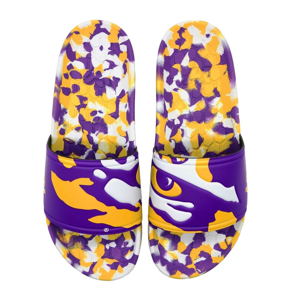 NCAA LSU Tigers Slide Sandals W9/M7 from Hype Co
