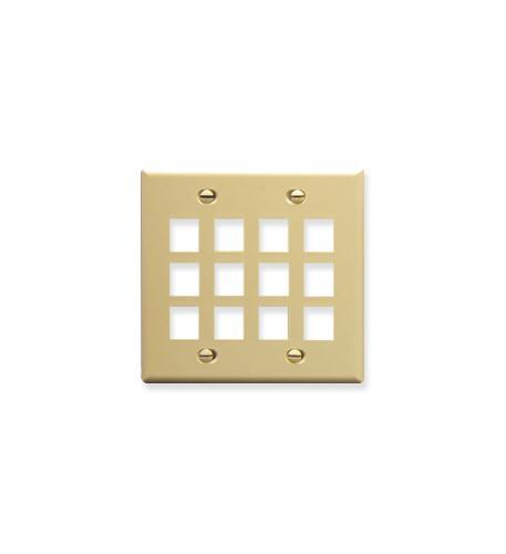 ICC ICC-FACE-12-IV IC107F12IV - 12Port Face - Ivory from ICC