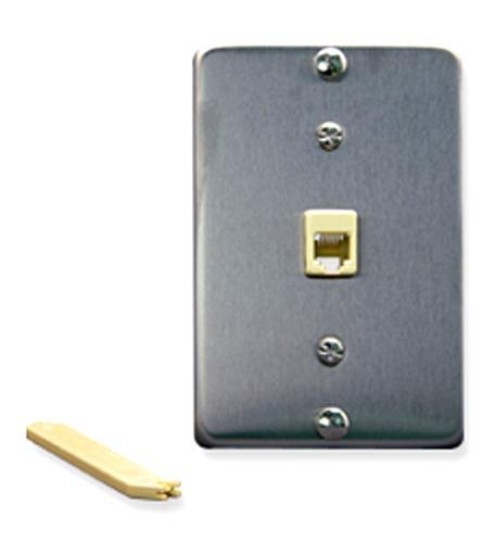 ICC ICC-IC630DA6SS Wall Plate IDC 6P6C STAINLESS STEEL from ICC