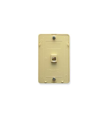 ICC ICC-IC630DB6IV Wall Plate IDC 6P6C IVORY from ICC