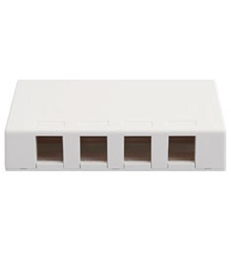 ICC ICC-SURFACE4WH IC107SB4WH  SURFACE BOX, 4 PORT WHITE from ICC