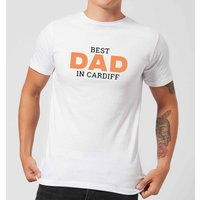 Best Dad In Cardiff Men's T-Shirt - White - S - White from IWOOT