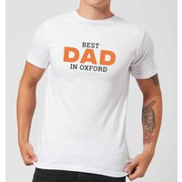 Best Dad In Oxford Men's T-Shirt - White - XXL - White from IWOOT