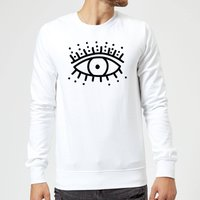Eye Eye Sweatshirt - White - L - White from IWOOT