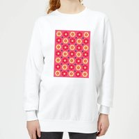 FLORAL PATTERN Women's Sweatshirt - White - XS - White from IWOOT