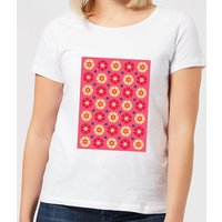 FLORAL PATTERN Women's T-Shirt - White - XL - White from IWOOT