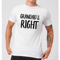 Grandad's Right Men's T-Shirt - White - M - White from IWOOT