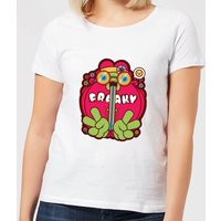 Hippie Psychedelic Cartoon Women's T-Shirt - White - L - White from IWOOT