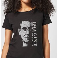 Imagine There's No Europe Women's T-Shirt - Black - XXL - Black from IWOOT