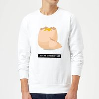 You're A Crackin' Egg Sweatshirt - White - M - White from IWOOT