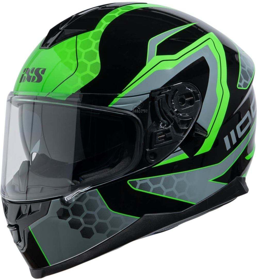 IXS 1100 2.2 Helmet, black-green, Size S, black-green, Size S from IXS