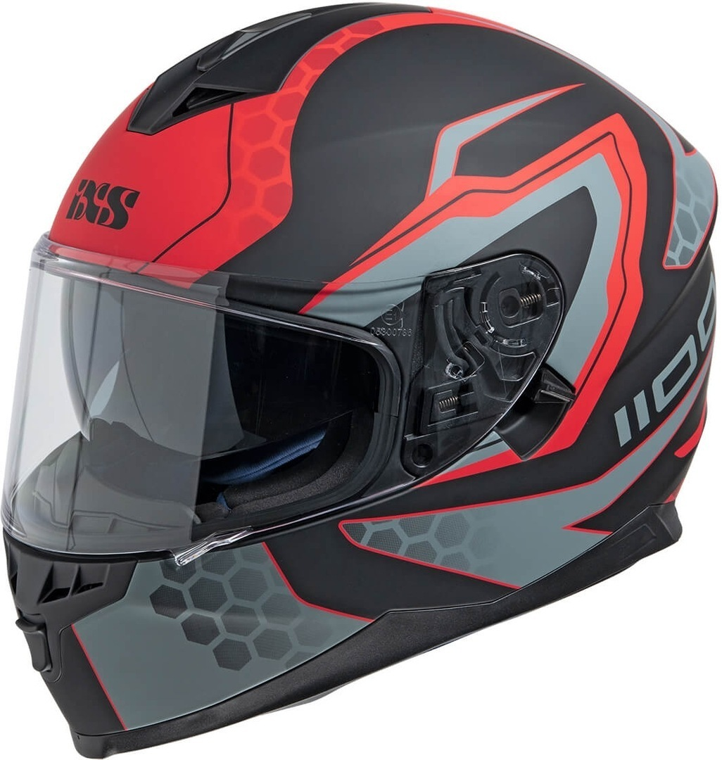 IXS 1100 2.2 Helmet, black-red, Size 2XL, black-red, Size 2XL from IXS