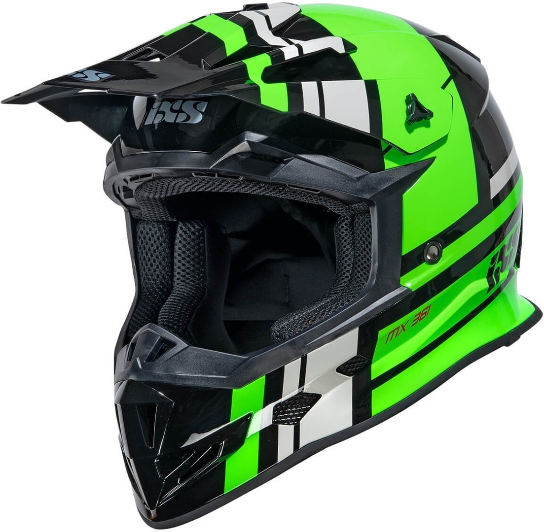 IXS 361 2.3 Motocross Helmet, black-green, Size XL, black-green, Size XL from IXS