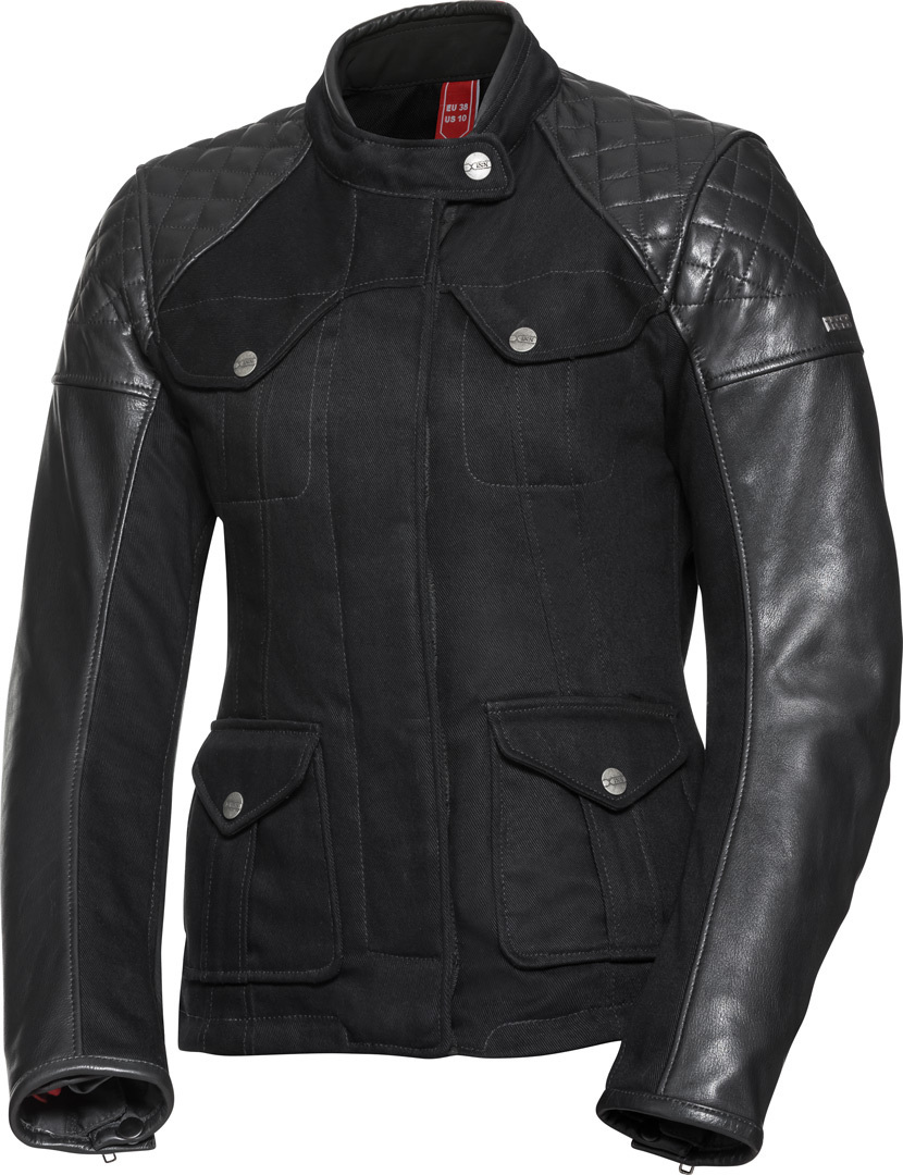 IXS Classic LT Jenny Ladies Motorcycle Leather Jacket, black, Size 44 for Women, black, Size 44 for Women from IXS