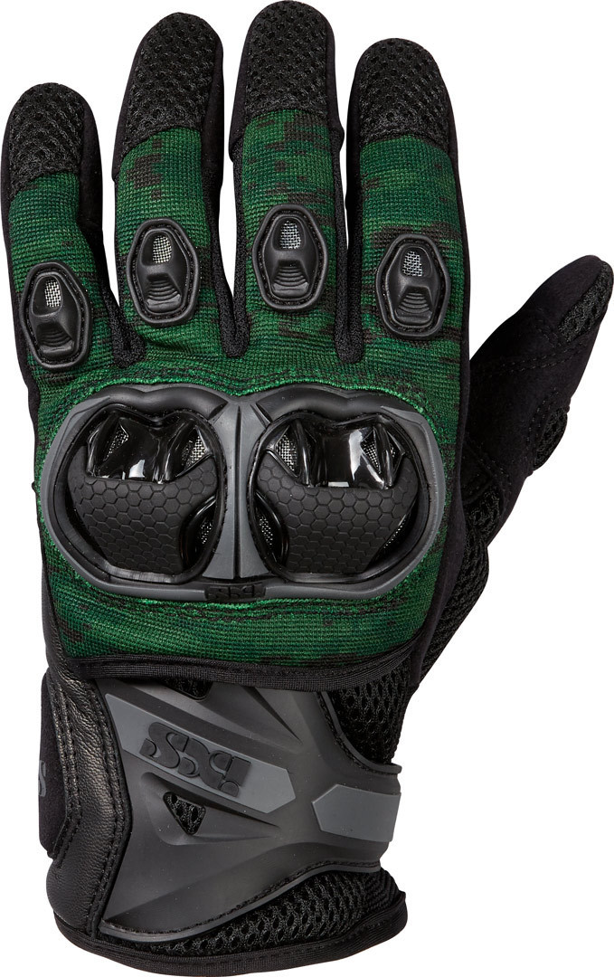 IXS LT Montevideo Air S Motocross Gloves, black-green, Size S, black-green, Size S from IXS