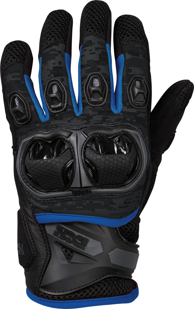 IXS LT Montevideo Air S Motocross Gloves, black-grey-blue, Size XL, black-grey-blue, Size XL from IXS