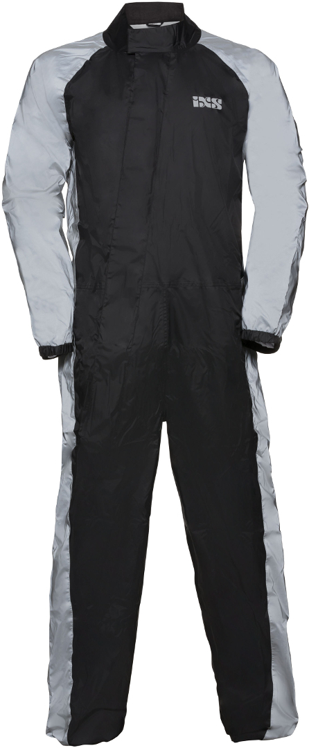 IXS Orca Reflex One Piece Rainsuit, black-silver, Size 5XL, black-silver, Size 5XL from IXS
