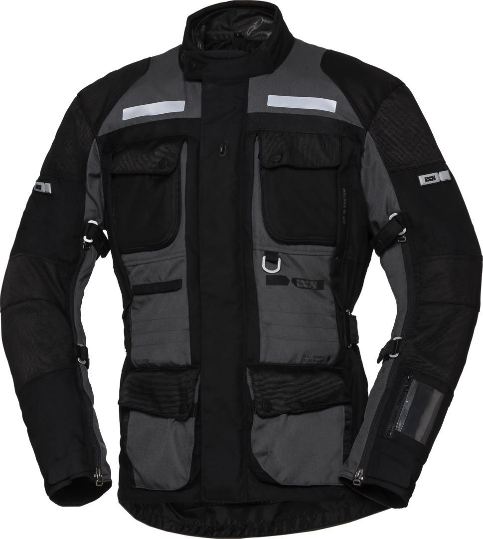 IXS X-Tour Montevideo-ST Motorcycle Textile Jacket, black-grey, Size L, black-grey, Size L from IXS
