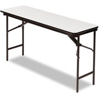 Premium Wood Laminate Folding Table, Rectangular, 60w x 18d x 29h, Gray/Charcoal from Iceberg