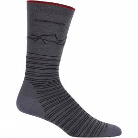 Mens Lifestyle Fine Gauge Crew Approach Sock from Icebreaker
