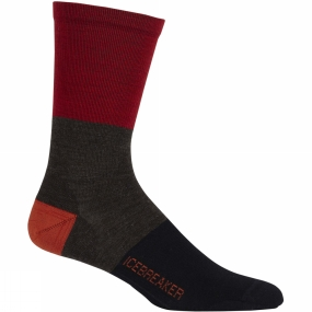 Mens Lifestyle Ultralight Crew Rugby Stripe Sock from Icebreaker