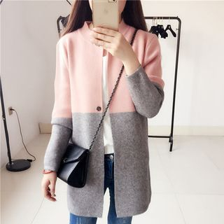 Color Block Knit Long-Sleeve Jacket from Ilda