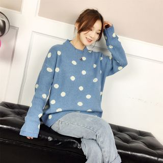 Dot Long-Sleeve Knit Sweater from Ilda