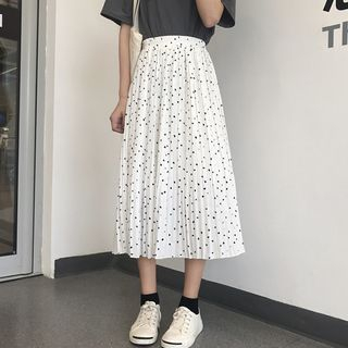 Dot Pleated Skirt from Ilda