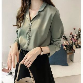 Long-Sleeve Chiffon Blouse from Ilda