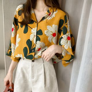 Long-Sleeve Floral Print Blouse from Ilda