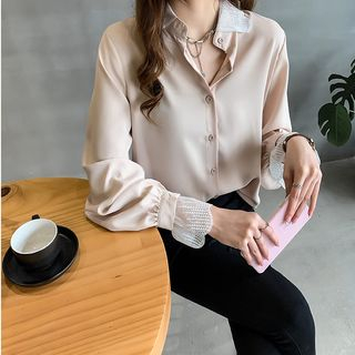 Long-Sleeve Plain Blouse from Ilda