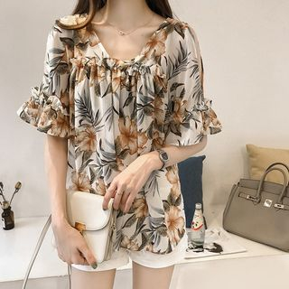 Off-Shoulder Floral Print Blouse from Ilda